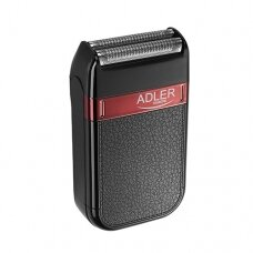 Adler Barzdaskutė AD 2923 Cordless, Charging time 1 h, Operating time 45 min, Wet use, NiMH, Number of shaver heads/blades 1, Black