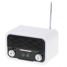Adler Mėlynatooth Radio AD 1185 Display LCD, AUX in, White