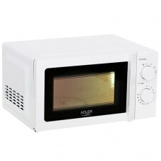 Adler Microwave Orkaitė AD 6205 Free standing, 700 W, White, 5, Defrost, 20 L