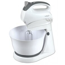 Adler Mixer AD 4202 Mixer with bowl, 300 W, Number of speeds 5, Turbo mode, White