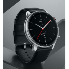 Amazfit GTR 2 Classic Edition Išmanusis laikrodis, GPS (satellite), AMOLED, Touchscreen, Heart rate monitor, Activity monitoring 24/7, Waterproof, Bluetooth, Stainless Steel, Obsidian Black, Wi-Fi