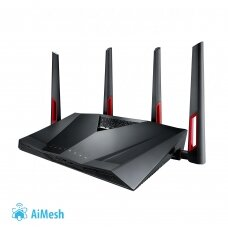 Asus Router RT-AC88U 802.11ac,  1000+2167 Mbit/s, 10/100/1000 Mbit/s, Ethernet LAN (RJ-45) ports 8, Mesh Support Yes, MU-MiMO Yes, 3G/4G via optional USB adapter, Antenna type 4xExternal, 1xUSB 2.0/1xUSB 3.0, AiProtection Powered by Trend Micro, AiMesh, W