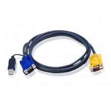 Aten 2L-5202UP 1.8M USB KVM Cable with 3 in 1 SPHD and built-in PS/2 to USB converter