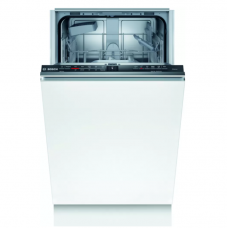 Bosch Serie 2 Indaplovė SPV2IKX10E Built-in, Width 45 cm, Number of place settings 9, Number of programs 5, Energy efficiency class F, AquaStop function, White