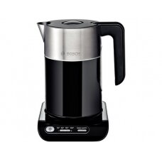 Bosch TWK8613P With electronic control, Stainless steel, Black, 2400 W, 360° rotational base, 1.5 L