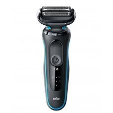 Braun Barzdaskutė 50-M4500cs Cordless, Charging time 1 h, Lithium Ion, Number of shaver heads/blades 3, Black/Mint, Wet & Dry