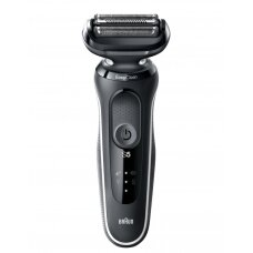 Braun Barzdaskutė 50-W1500s Cordless, Charging time 1 h, Lithium Ion, Number of shaver heads/blades 3, Black/White, Wet & Dry
