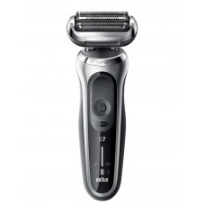 Braun Barzdaskutė 70-S1000s Cordless, Charging time 1 h, Lithium Ion, Number of shaver heads/blades 3, Black/Silver, Wet & Dry