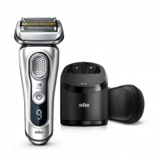 Braun Barzdaskutė Series 9 9390cc Operating time (max) 60 min, Lithium Ion, Number of shaver heads/blades 5, Silver, Cordless, Wet & Dry