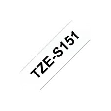 Brother TZe-S151 Strong Adhesive Laminated Tape Black on Clear, TZe, 8 m, 2.4 cm