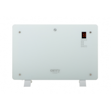 Camry CR 7721 Convection glass heater LCD with remote control, 1500 W, Number of power levels 2, White