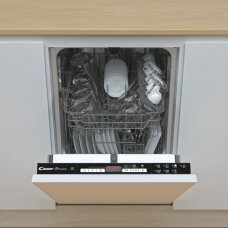 Candy Indaplovė CDIH 2D949 Built-in, Width 44.8 cm, Number of place settings 9, Number of programs 7, Energy efficiency class E, Display, AquaStop function, White