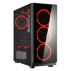 Case GOLDEN TIGER Raptor F-12 MidiTower Not included ATX MicroATX Colour Black RAPTORF-12
