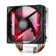 Cooler Master cooler HYPER 212 EVO Cooler Master Hyper 212 RED LED Universal cooler, 4 x Ø6mm heat-pipes, Intel 115X/1366/2011/2066 and AMD AM x/FM x, 120mm PWM fan Universal, Cooler