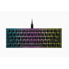 Corsair Mini Mechanical Gaming Keyboard K65 RGB On-Board Memory; Supported in iCUE, RGB LED light, NA, Wired, Black,  Speed Switch