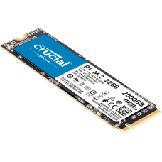 Crucial SSD P1 2000 GB, SSD form factor M.2, SSD interface PCIe G3 1x4 / NVMe, Write speed 1700 MB/s, Read speed 2000 MB/s