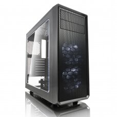 Fractal Design Focus G FD-CA-FOCUS-GY-W Side window, Left side panel - Tempered Glass, Gray, ATX, Power supply included No