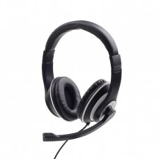 Gembird Stereo headset MHS-03-BKWT Built-in microphone, Headband/On-Ear, 3.5 mm jack, Black colour with white ring