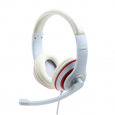 Gembird Stereo Headset MHS 03 WTRD White with Red Ring, Headset