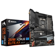 Gigabyte Z590 AORUS ELITE AX 1.0 M/B Processor family Intel, Processor socket LGA1200, DDR4 DIMM, Memory slots 4, Number of SATA connectors 6, Chipset Intel Z, ATX
