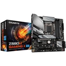 Gigabyte Z590M GAMING X 1.0 M/B Processor family Intel, Processor socket LGA1200, DDR4 DIMM, Memory slots 4, Number of SATA connectors 6 x SATA 6Gb/s connectors, Chipset Intel Z, Micro ATX