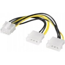 Goobay 93241 Power cable/adapter for PC graphics cards; PCI-E toPCI Express 8-pin, 0.15 m