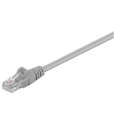 Goobay CAT 5e patch cable, U/UTP RJ45 male (8P8C), RJ45 male (8P8C), 1 m, Grey