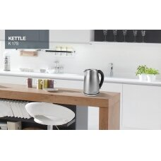 Gorenje Virdulys K17S Electric, 2000 W, 1.7 L, Stainless steel, 360° rotational base, Stainless steel