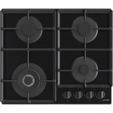 Gorenje Viryklė GTW641EB Gas on glass, Number of burners/cooking zones 4, Mechanical, Black