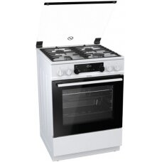 Gorenje Viryklė K634WF Viryklė type  Gas, Orkaitė type Electric, White, Width 60 cm, Electronic ignition, Kepintuvasing, LED, 71 L, Depth 60 cm