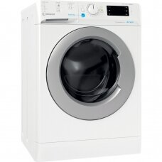 INDESIT Skalbimo mašina with Dryer BDE 861483X WS EU N Energy efficiency class D, Front loading, Washing capacity 8 kg, 1351 RPM, Depth 54 cm, Width 59.5 cm, Display, Drying system, Drying capacity 6 kg, White