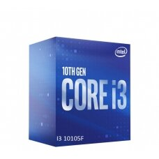 Intel i3-10105F, 3.7 GHz,  FCLGA1200, Processor threads 8, Packing Retail, Processor cores 4, Component for PC