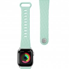LAUT ACTIVE 2.0, Sport Watch Strap for Apple Watch, 38/40mm, Ergonomic fit, Easy lock, Easy Clean, Mint, Sport Polymer Material, Metal Button, Stainless Steel Connectors