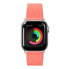 LAUT ACTIVE 2.0, Sport Watch Strap for Apple Watch, 42/44mm, Ergonomic fit, Easy lock, Coral, Sport Polymer Material, Metal Button, Stainless Steel Connectors