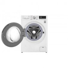 LG Skalbimo mašina With Dryer F2DV5S7S1E Energy efficiency class D, Front loading, Washing capacity 7 kg, 1200 RPM, Depth 46 cm, Width 60 cm, Display, LED, Drying system, Drying capacity 5 kg, Steam function, Direct drive, Wi-Fi, White