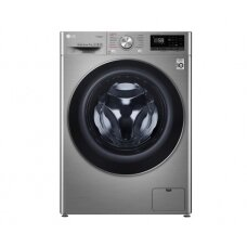 LG Washing machine F2WN6S7S2T Energy efficiency class E, Front loading, Washing capacity 7 kg, 1200 RPM, Depth 45 cm, Width 60 cm, Display, LED touch screen, Steam function, Direct drive, Wi-Fi, Chrome