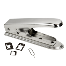 Logilink 2 in 1 SIM Card Cutter *For cutting of SIM cards into micro and nano format*Material: Stainless iron*For easy cutting of SIM cards*2x Nano-SIM cards, 1x Micro SIM Card*Adapter and 1x SIM card pin included*Color: Silver/Chrome