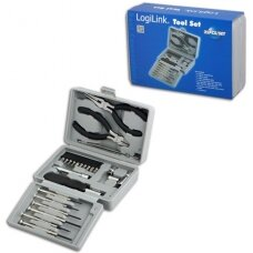 Logilink Tool Set, 25pcs Incl. transport boxThe set includes6x micro screwdrivers1x micro cutter1x mini telephone plier1x bit screwdriver with extension10x bits (PH1, PH2, PZ1, PZ2, PZ5, PZ6, T10, T15, T20, adaptor)4x socket wrench (5mm, 6mm, 8mm, 10mm)1x