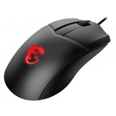 MSI Clutch GM41 Lightweight Optical, RGB LED light, Wireless connection, Black, Gaming Mouse, 1000 Hz
