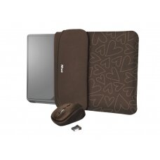 """NB SLEEVE +MOUSE 15.6"""" YVO/REVERSIBLE BROWN 23446 TRUST"""