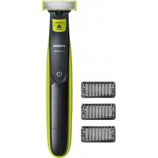 Philips Barzdaskutė OneBlade QP2520/20 Cordless, Charging time 8 h, Operating time 45 min, Wet use, NiMH, Number of shaver heads/blades 1, Grey/Green