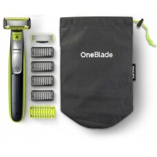 Philips Barzdaskutė QP2630/30 OneBlade Cordless, Charging time 4 h, Wet use, Lithium Ion, Number of shaver heads/blades 2, Lime green/Charcoal grey