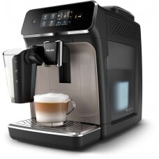 Philips Espresso kavos aparatas EP2235/40 Pump pressure 15 bar, Built-in milk frother, Fully automatic, 1500 W, Black/Zinc brown