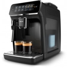 Philips Espresso kavos aparatas EP3221/40 Pump pressure 15 bar, Built-in milk frother, Fully automatic, 1500 W, Black