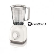 Philips Kokteilinė Daily Collection HR2100/00 Tabletop, 400 W, Jar material Plastic, Jar capacity 1.5 L, White