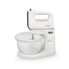 Philips Mixer  Viva Collection HR3745/00 Mixer with bowl, 450 W, Number of speeds 5, Turbo mode, White