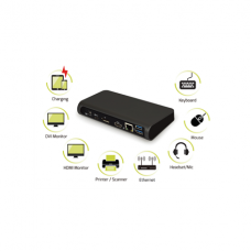 PORT DESIGNS Universal Office Docking Station: Type-C, Display Port, HDMI, LAN, 3x USB 3.0, Audio Jack