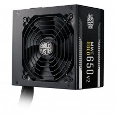 Power Supply COOLER MASTER 650 Watts Efficiency 80 PLUS GOLD PFC Active MTBF 100000 hours MPE-6501-ACAAG-EU
