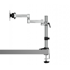 """Raidsonic B-MS403-T Monitor stand with table support for one monitor up to 27"""" (68 cm), Rotate, Swivel, Tilt, Maximum weight (capacity) 8 kg, Silver"""
