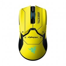 Razer Gaming Mouse + Mouse Dock Viper Ultimate RGB LED light, Optical mouse, Cyberpunk, Wireless